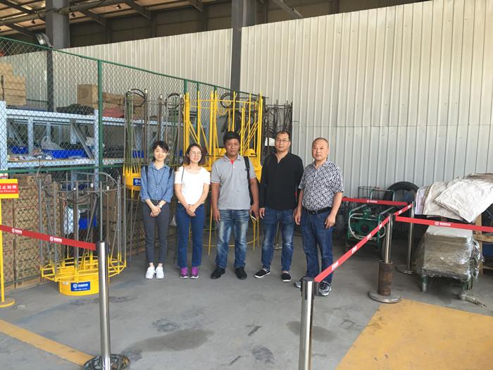 缅甸某检测公司莅临欧感科技考察-欧感荷载箱