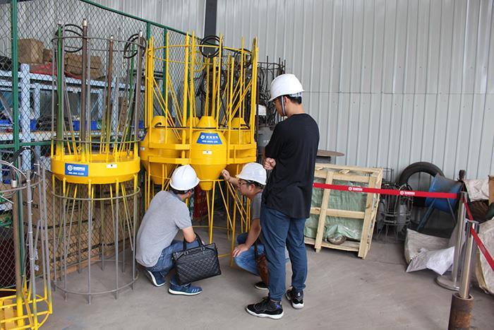 长江航道规划设计莅临欧感科技参观指导-欧感荷载箱